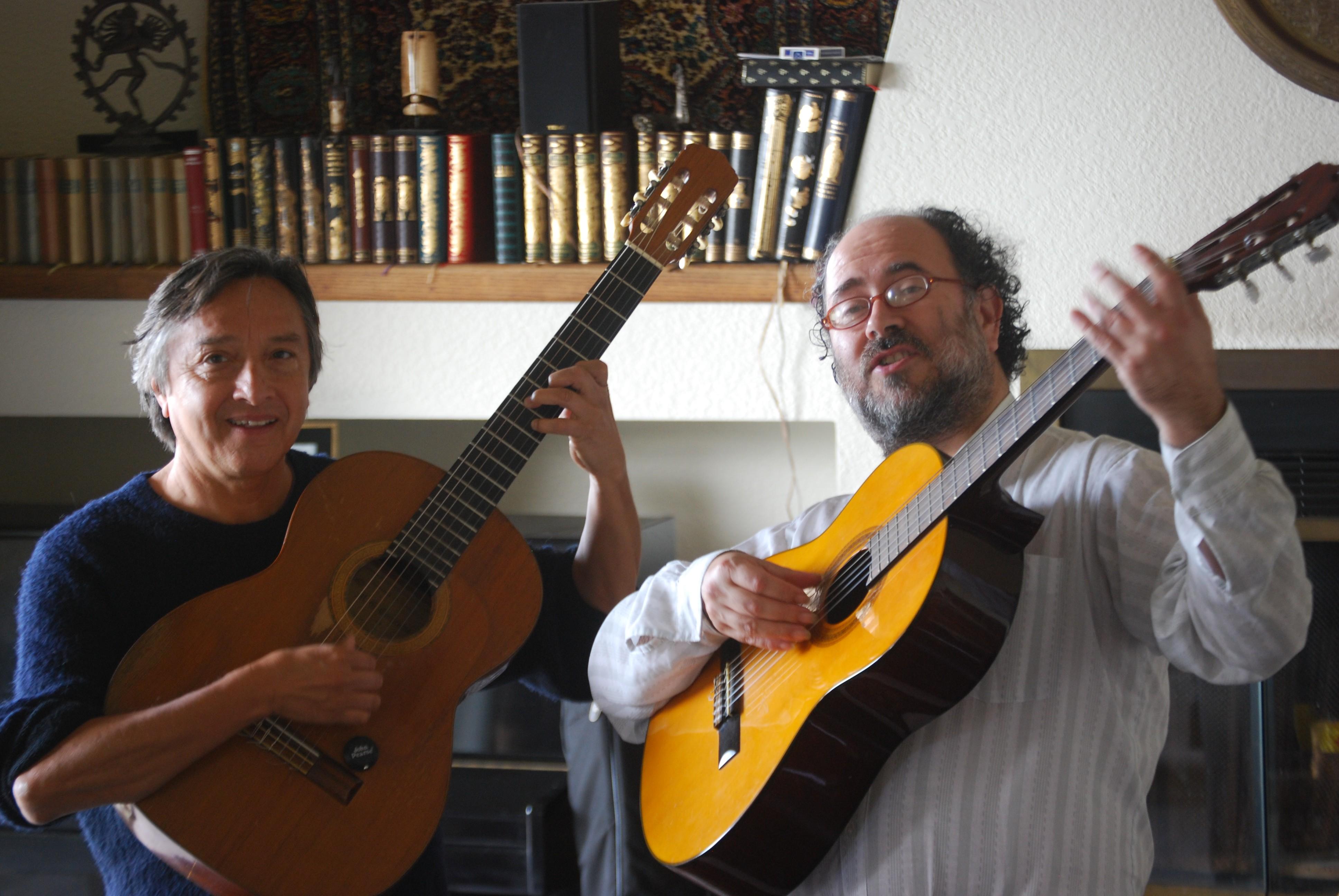 Con Rafa Manríquez
