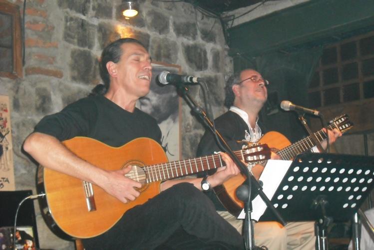 Con Zeca Barreto