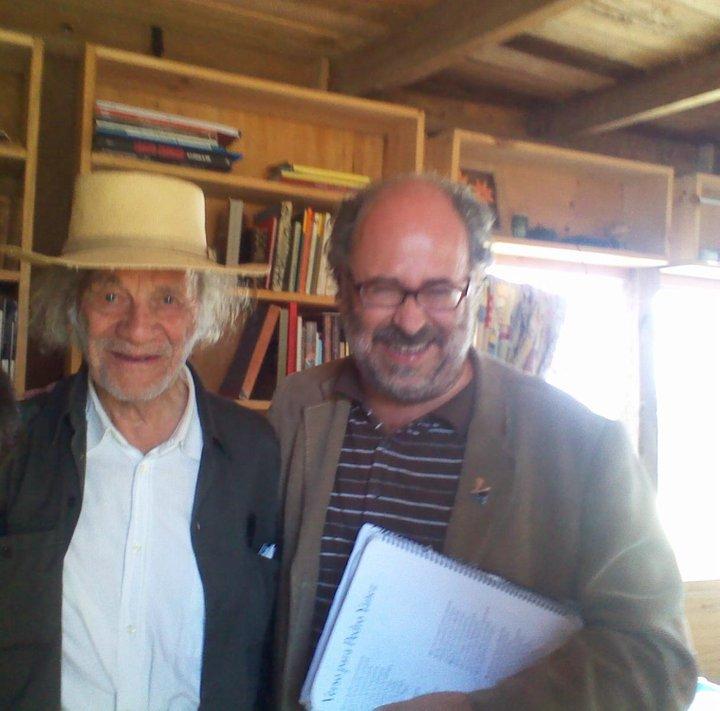 Con Nicanor Parra, en Las Cruces