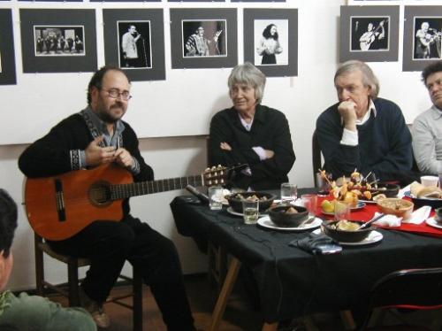 Con Joan Jara y Daniel Viglietti