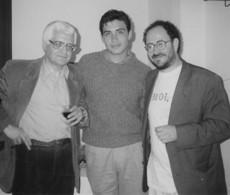 Con Miguel Arteche y Pato Anabalón