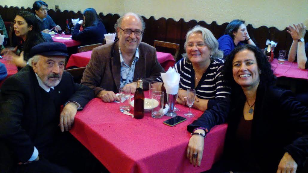 Con Floridor, Alicia y Lilia en la Unión Chica